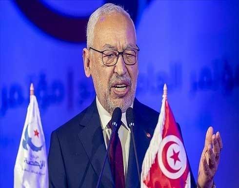 """تونس.. الغنوشي يدعو """"للنضال السلمي"""" ضد """"الحكم الفردي المطلق"""""""
