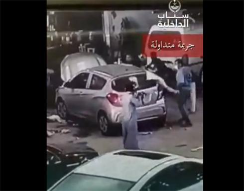 شاب سعودي يهاجم عمال صيانة سيارات بسلاح رشاش موقعا إصابات في صفوفهم (فيديو)