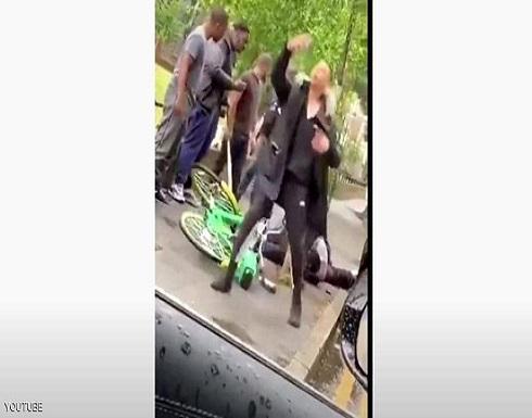 """""""كمين"""" يستهدف الشرطة ببريطانيا.. وفيديو يوثق الاعتداء"""