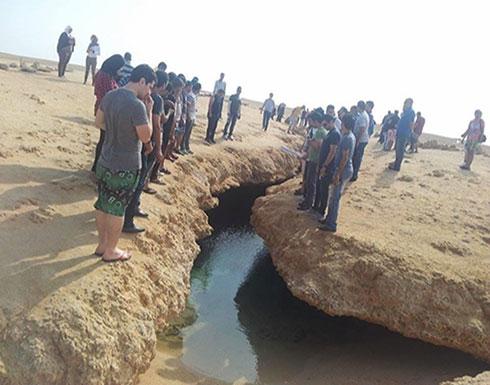 بالصور :  الشق الزلزالي.. لمسة جمال صنعتها الطبيعة في مصر جنوب سيناء