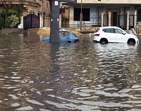 بالفيديو : فيضانات في مصر والأرصاد تحذر