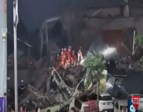 بالفيديو : الصين.. 70 عالقا إثر انهيار فندق يستضيف مخالطين لمصابي كورونا