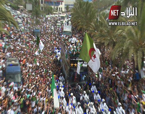 """بالفيديو : الجزائر.. استقبال أسطوري لـ""""محاربي الصحراء"""""""