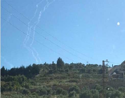 اطلاق 4 صواريخ من جنوب لبنان باتجاه الجليل الغربي .. بالفيديو