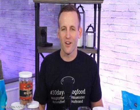 رجل يتناول طعام الكلاب 30 يوما