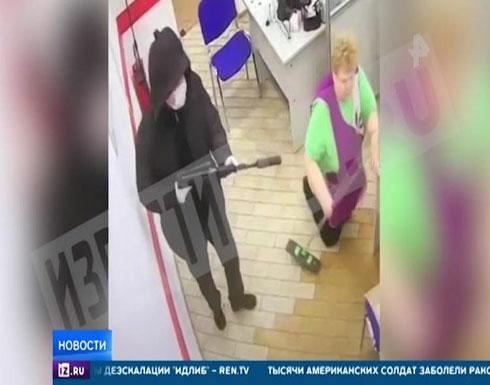 شاهد: عملية سطو على أحد البنوك في مدينة روسية