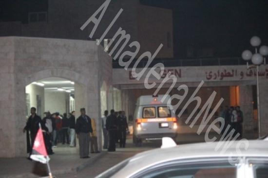 الاردن : وصول جثامين متوفين ومصاب من ضبعة الى البشير