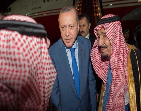 الملك سلمان يستقبل أردوغان في مستهل زيارته إلى الرياض