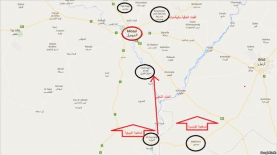خطة تحرير الموصل.. أبرز محاور المواجهة ومواقع الجيش والحشد