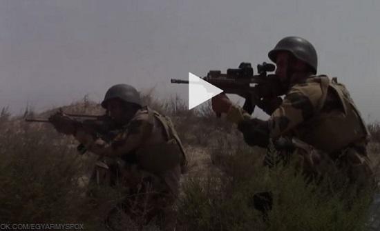 """شاهد : فيديو """"عملية بئر العبد"""" ضد إرهابيين يحقق انتشارا هائلا"""