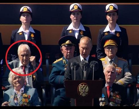 شاهد : رد فعل غير متوقع لأحد المحاربين القدامى على كلمة بوتين