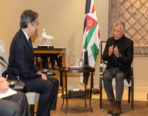 بلينكن مغردا: أثنيت على قيادة الأردن بدعم السلام