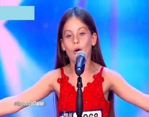 الطفلة الأردنية ايمان بيشة ... تتوج بلقب اراب قوت تالنت
