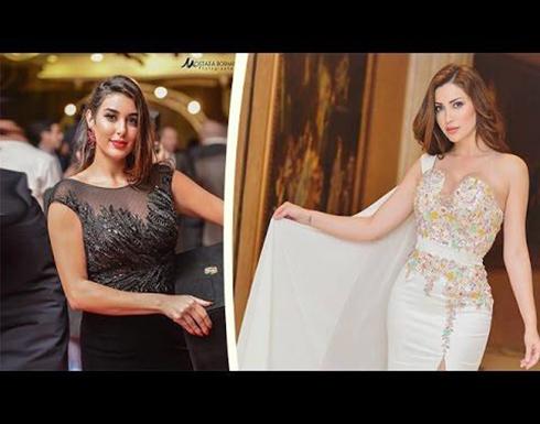 نسرين طافش في موقف محرج بسبب فستان ياسمين صبري (صور)
