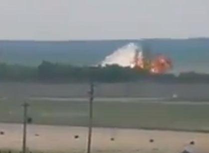 شاهد .. اللحظات الاولى لسقوط الطائرة الروسية فى سوريا