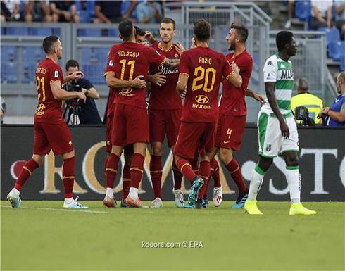 بالصور: روما يكتسح ساسولو ويتذوق طعم الانتصار الأول