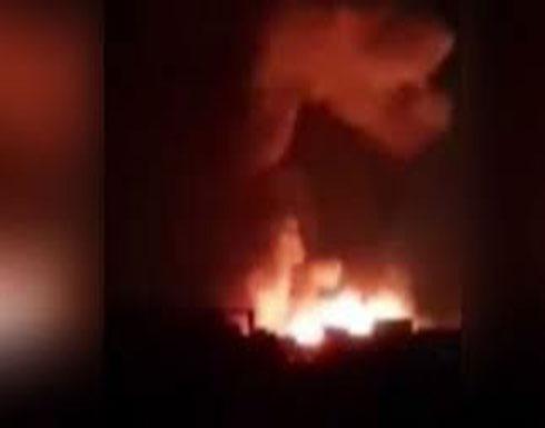 بالفيديو : غارات للاحتلال الإسرائيلي على موقع فلسطيني بالبقاع اللبناني