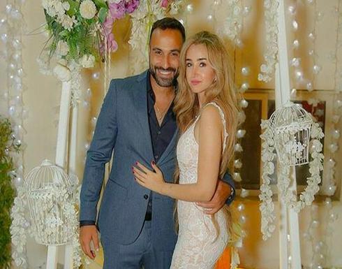 شاهد كيف احتفلت هنا الزاهد وأحمد فهمي بعيد زواجهما الأول على البحر.. صورة