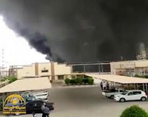 شاهد : إيران.. حريق ضخم في مصفاة للنفط