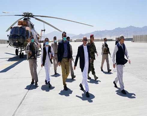 الرئيس الأفغاني يزور قاعدة جوية بعد انسحاب القوات الأمريكية منها