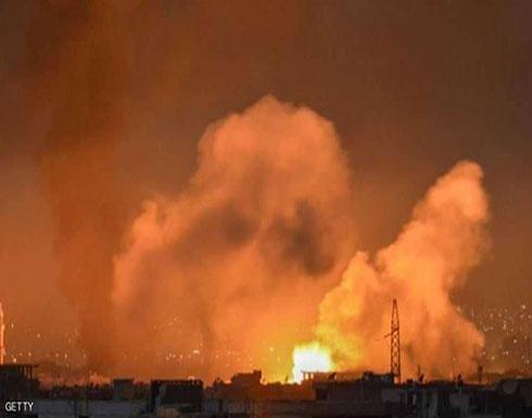 """انفجار ضخم يهز """"مستودعات عسكرية"""" للنظام السوري"""
