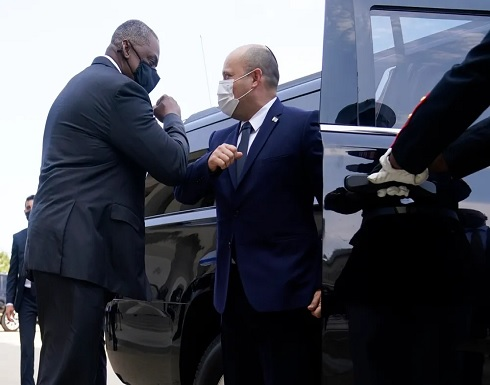 رئيس الوزاراء الاسرائيلي بينيت يلتقي بوزير الدفاع الأمريكي اوستن في البنتاغون
