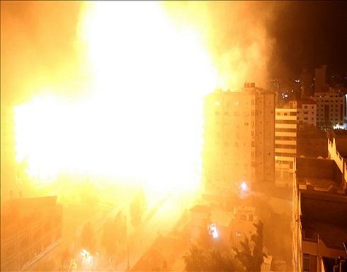 الجيش الإسرائيلي يشن سلسلة غارات عنيفة على مقرات أمنية بغزة