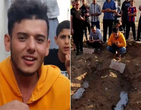 تحدث عن آخر ما دار بينهما.. شاب يودع خطيبته بعد استشهادها في غزة .. بالفيديو
