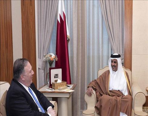 أمير قطر وبومبيو يبحثان العلاقات الاستراتيجية بين البلدين