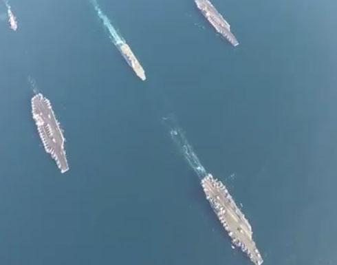 3 حاملات طائرات أميركية تناور قرب كوريا الشمالية