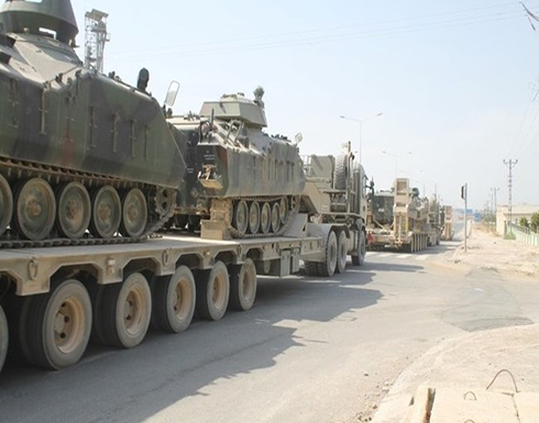 شاهد : تركيا تنقل دبابات من الحدود السورية إلى اليونانية