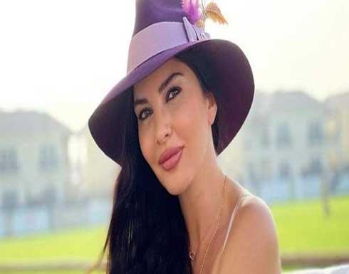 صاحبة الصور الجريئة لاميتا فرنجية بالحجاب للتهنئة بشهر رمضان .. شاهد