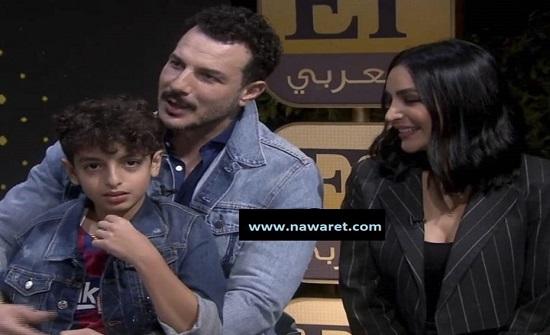 شاهدوا.. ابن الفنان باسل خياط بظهوره الأول يحرجه على الهواء