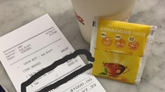 6 دولارات ثمن كيس الشاي في لبنان !!!