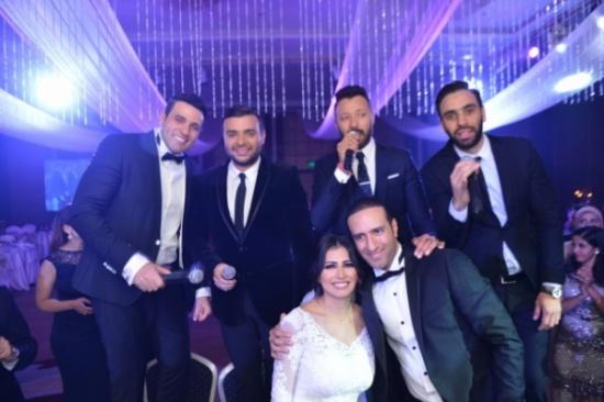 """بالصور- عودة فريق """"واما"""" في ليلة زفاف شقيق المطرب محمد نور"""