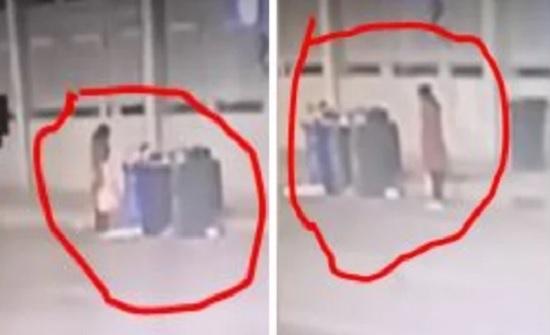 الصين : أم تلقي رضيعها في صندوق قمامة.. وكاميرات المراقبة تفضح فعلتها