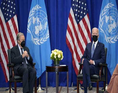 بايدن يدعو حكومات العالم إلى العمل المشترك لتطوير القانون الدولي