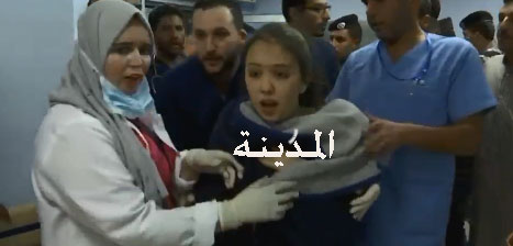بالصور : شاهد أجواء مستشفى الشونة الآن بعد فيضان الموجب