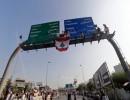 من احتجاجات سابقة على طريق قصر بعبدا (أرشيفية)