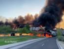 حريق وانهيار جزئي لجسر في ضواحي فينيكس