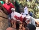 شاهد .. لحظة تهريب جثمان الشهيد محمد ابو غنام