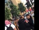 شاهد : موكب احد النواب يطلق النار في الهواء بين المتظاهرين في بيروت