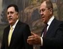 وزير الخارجية الروسي سيرغي لافروف ورئيس الحكومة الليبية فايز السراج