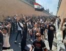 متظاهرون يتدفقون إلى نفق التحرير وسط العاصمة بغداد