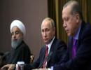 رجب طيب أردوغان وفلاديمير بوتين وحسن روحاني - أرشيفية