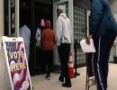 ناخبون مشاركون في لتصويت المبكر في الانتخابات العامة الأمريكية