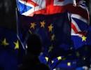 علم الاتحاد الاروبي وعلم بريطانيا
