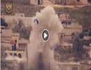 شاهد : تدمير سيارة عسكرية لقوات الاسد في قرية حنتوتين