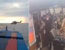 تفتيش غير قانوني لسفينة تركية في المتوسط .. شاهد