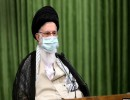 خامنئي مرتديا الكمامة خلال اجتماعه عبر الفيديو مع النواب
